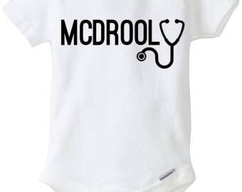 Greys Anatomy McDrool Baby Onesie