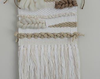 Woven Weave Wall Hanging//Boho Wall Art//Loom Weave