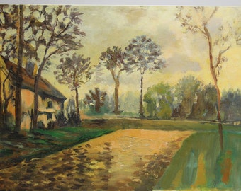 Oil painting - House in the countryside