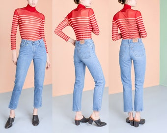 LEVIS perfect JEANS high waist VINTAGE women skinny jeans Student denim / Size / waist / better Stay together