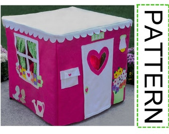 Sewing Pattern, Card Table Playhouse Pattern, DIY Playhouse, Deluxe Edition, eBook Instant Download, 40 pages, As Seen on The Today Show