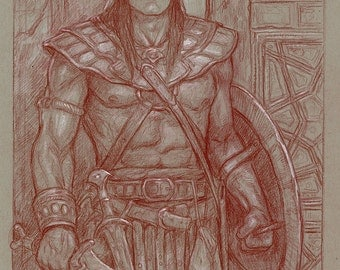 The Cimmerian Captain, Original Drawing