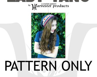 Lady Tano Slouch Hat Textured Crochet PATTERN