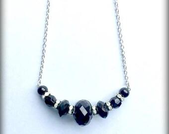 Elegant Black Stone Necklace