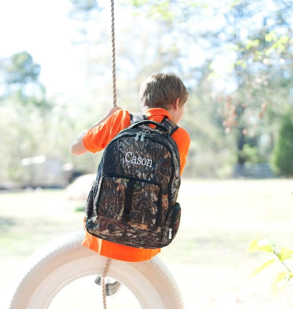Boys Monogrammed Camouflage Backpack, Matching Lunchbox and Pencil Case can be purchased, Monogram Included