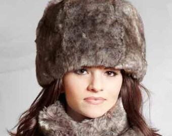 Tissavel Faux Fur Cloche in Graphite