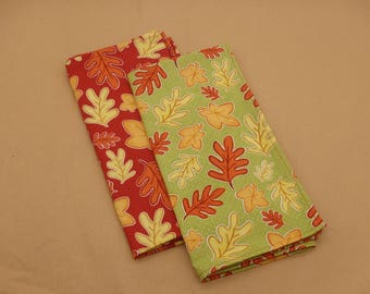 Autumn Leaves Oak Leaf Print, Fall Table Linens - Napkins, Placemats, Table Runner