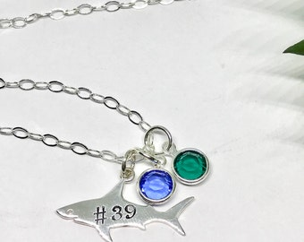 Shark Team Mascot Necklace - Sharks Team Jewelry - Sterling Silver Shark Charm - Hockey Mom Gift Idea - The Charmed Wife - Christmas Gifts