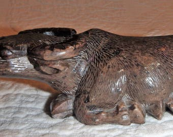 Carved Soapstone Water Buffalo