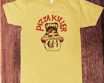 Pizza Killer T-shirt, funny T-shirt, weird shirt, pizza lover, gift for pizza lover, retro, nerd, goofy, trippy, crazy, gifts for him