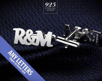 Personalized Cufflinks - Wedding Cufflinks - Initials Cufflinks for Groom - Monogram Cufflinks - Valentines gift for men