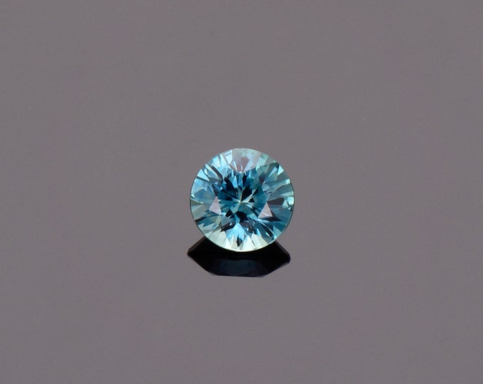 SALE EVENT! Blue Green Sapphire Gemstone from Montana, Round, 0.65 cts., 5.0 mm.