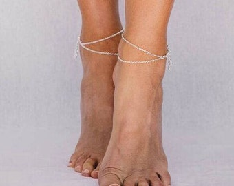 London - Fine Anklet in Silver, Gold or Rose Gold