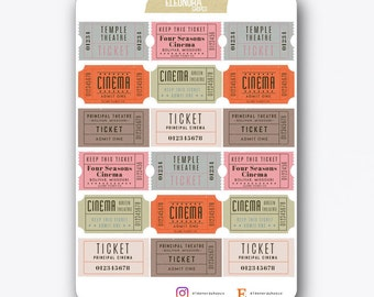 Free Movie Tickets Adhesives | T015