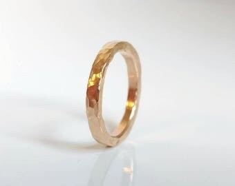 Gold Ring Band 14K Yellow Promise Filled Wedding Affordable
