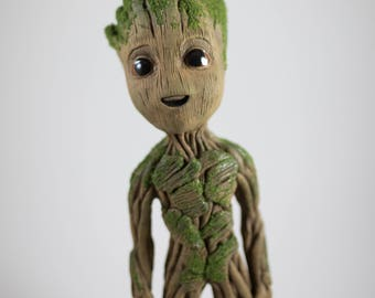 "Life size baby Groot sculpture statue 9"" tall (V2)"