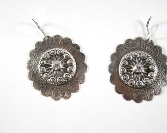Sterling Silver CZ Boho Earrings