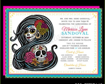 CATRINA XV Quinceanera or Sweet 16 custom Invitations