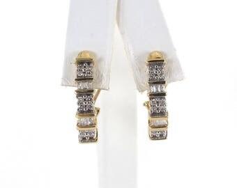 14k Yellow Gold Diamond Earrings 1.00 carat - Women's Gemstone Earrings