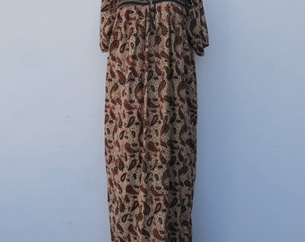 0737 - Indian Brocade Designed Dress