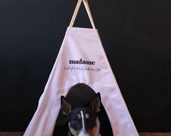 Teepee for cat, dogs, rabbits and hamsters (design madame pink)