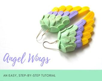 TUTORIAL: Angel Wings | Polymer Clay Earrings Step by Step Tutorial