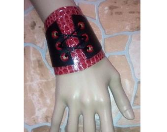 hippie bracelet gothic bracelet Lace wrist cuff steampunk, Bracelet of style steampunk