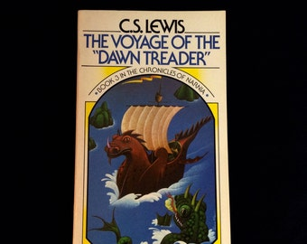 The Chronicles of Narnia Book #3 - The Voyage of The Dawn Treader - C.S. Lewis - Vintage Paperback Book