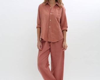 Linen Pajama Shirt