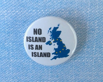 Pinback button badge - Anti Brexit - EU badge - protest pin - lapel pin - political badge