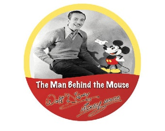 The Man Behind the Mouse Button - Walt Disney Button - Mickey Mouse Button - Disney Park Pin- Theme Park Badge - Disney World Button