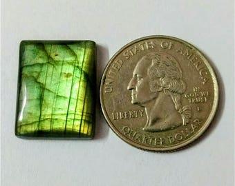 20.46 x 15.85 mm,Octagon Shape Labradorite Cobochon/Green Flash/wire wrap stone/Super Shiny/Pendant Cabochon/Semi Precious Gemstone/labrado