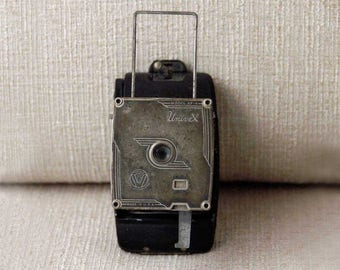 Univex Camera, AF-4 Model, Compact Black Folding Camera With Film Take-Up Spool, Vintage 1938, Miniature Vest Pocket Camera, Made in USA