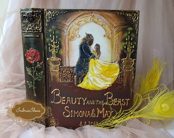 Beauty and The Beast Wedding Guest Book, Fairy tale Wedding, Disney wedding, Once Upon a Time wedding guest book, beauty and the beast party