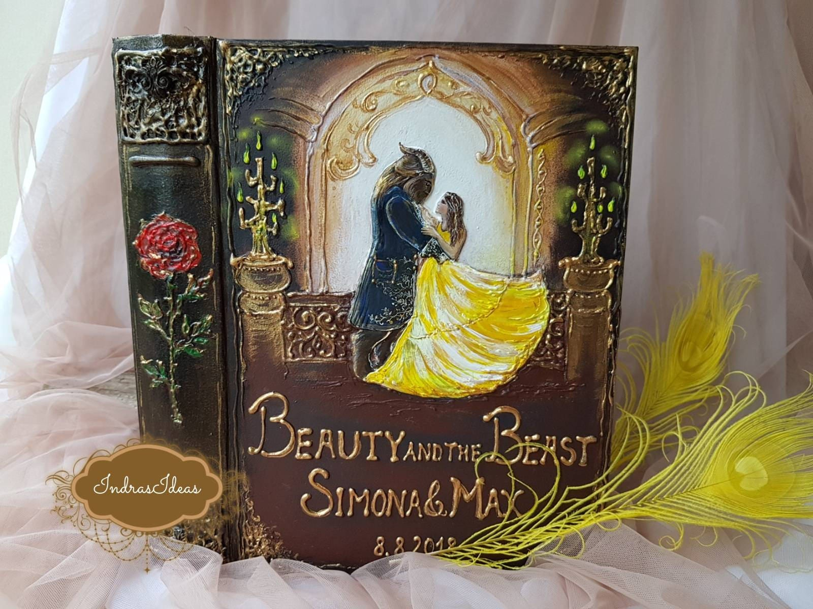 Beauty and The Beast Wedding Guest Book Fairy tale Wedding