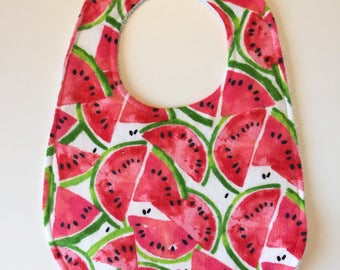 Watermelon Baby Bib - Watermelon Bib - Watermelon Drool Bib