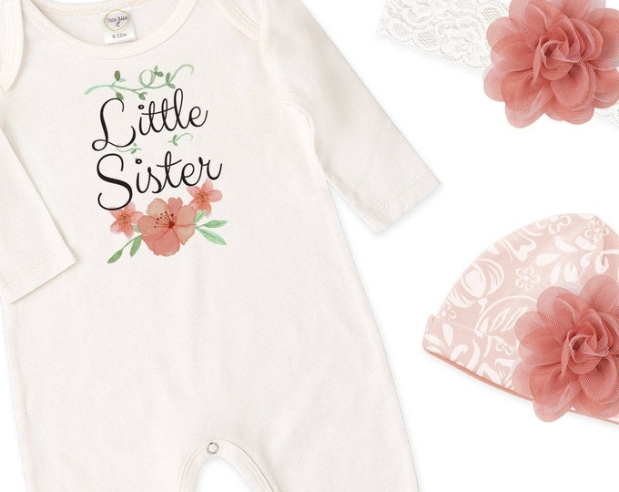 Little Sister Coming Home Outfit, Newborn Girl Outfit, Baby Girl Take Home Outfit, Baby Little Sister Tesababe