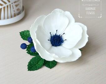Ivory wedding Flower hair piece Wild rose hair pin Bridesmaid Boho wedding accessory flower girl Wedding hair accessories Gift for her