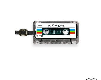 Luggage Tag Retro Mixtape Caste Tape Version  Personalized Custom Single Tag