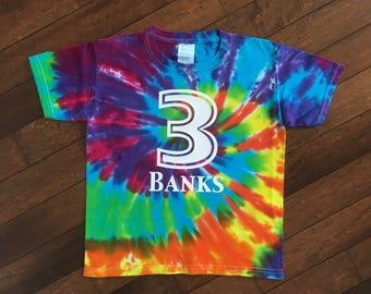 Tie Dye Shirt | Number Shirt | Birthday Number Shirt | Personalized Kids Birthday Shirt | 3rd Birthday Shirt | Kids Tie Dye Birthday Shirt