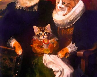 cat portrait, pet portrait, custom cat portrait, custom pet portrait, custom cat painting, cat painting, custom portrait, from photograph