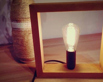 Wooden lamp, table lamp, Lamps