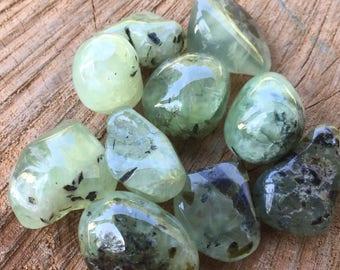 Prehnite Stone, Prehnite Crystal, Prehnite Tumbled Stone, Chakra Stones, Prehnite Gemstone, Prehnite Healing, Crystal Healing and Stones