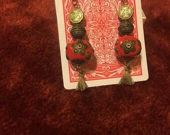 Gypsy lamp earrings