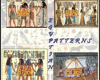 Egyptian Cross Stitch Pattern SPECIAL OFFER 4 patterns B661, B851, B1560 and B1561 hieroglyphs Cross Stitch punto de cruz B1563