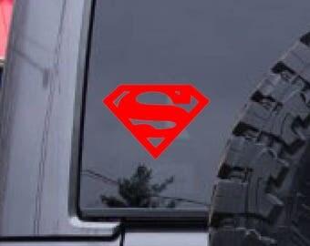 Superman decal, Super hero, sticker decal, FREE SHIPPING, vinyl decal, car decal, sticker, laptop decal, Avengers, batman #237