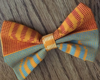 African Print Bow Tie with Adjustable Neck Band - Sunshine Bliss (Ties, Bowtie, Formal, Casual, Accessories)
