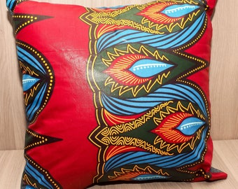 African Wax Print Throw Pillow