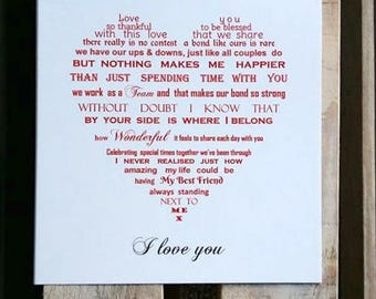 Wife Valentine card, Husband card, Girlfriend Valentine card, Boyfriend card, birthday card, anniversary card, fiance valentine card
