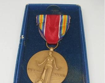 Inventory Sale Vintage Boxed WW2 US Victory Medal